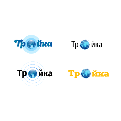 "Logo development process for the company ""Troika"""