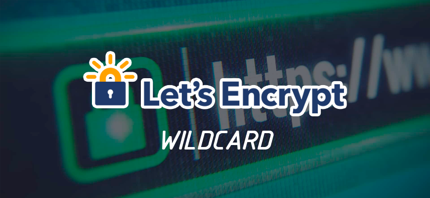 How to get a lets'encrypt wildcard certificate?