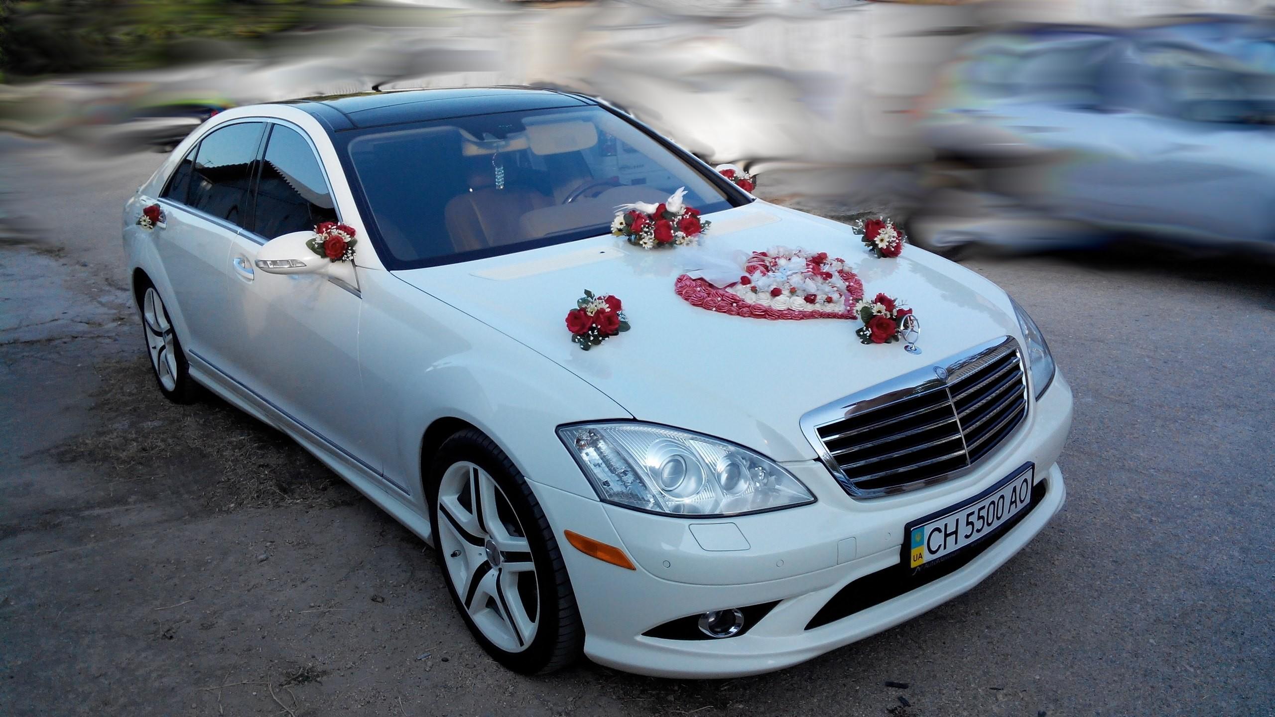 Картинки свадебное украшения машины